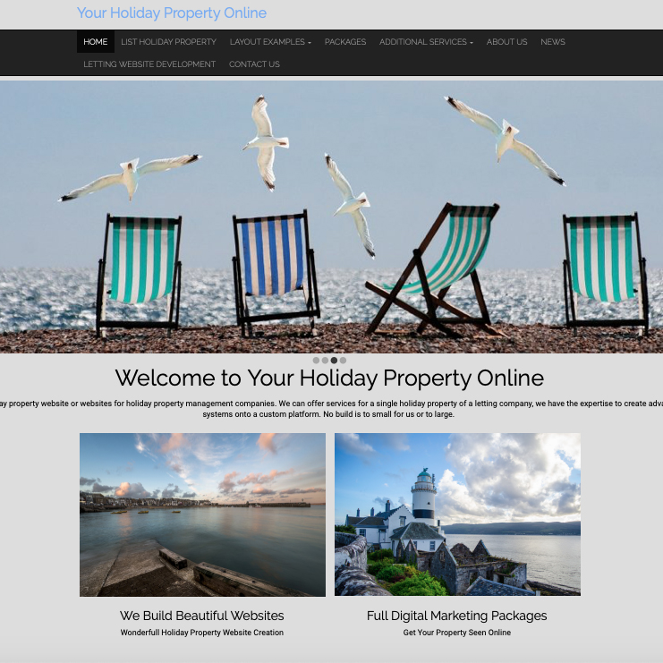 Your Holiday Property Online